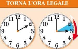 Ora legale, data cambio orario in Italia, staffetta con l'ora solare in arrivo