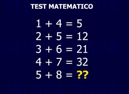 Test, chi lo sa? Se lo sai commenta e condividi
