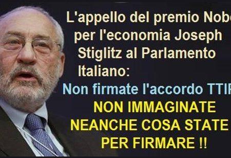 """TTIP: """"NON È UN ACCORDO DI LIBERO SCAMBIO, NON FIRMATE"""""""