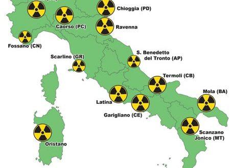 Sono allarmanti i dati relativi all'inquinamento nucleare nel centro Italia con Lazio, Campania e Tirreno tra i territori più contaminati