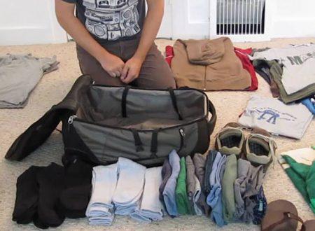 Ecco un metodo geniale per fare la valigia