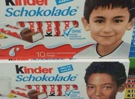 Germania la Kinder lancia le scatole di barrette al cioccolato senza la solita foto del bambino biondo con gli occhi azzurri e la mamma degli imbecilli è sempre incinta!