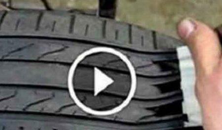 La nuova truffa dei pneumatici. Ecco come in pochi minuti un pneumatico vecchio diventa nuovo! (VIDEO)