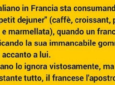 ECCO UNA RISPOSTA DA PREMIO OSCAR DI UN ITALIANO IN FRANCIA (BARZELLETTA)